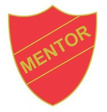 Red Mentor Shield Badge